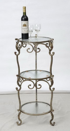 9231 Handmade metal Stand, hand worked Table Tops