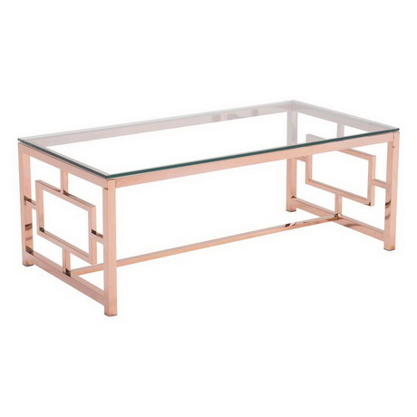 CT00025 modern stainless steel glass coffee table