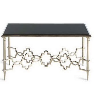CT00040 glass top steel stainless base coffee table set