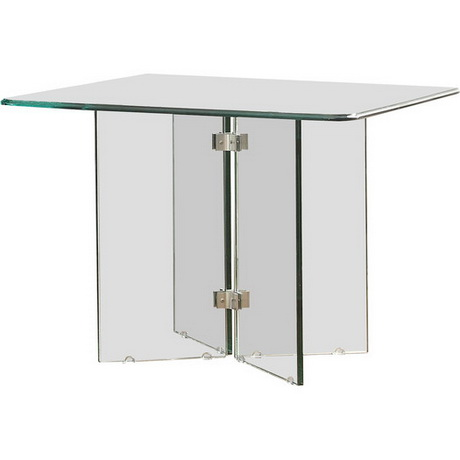 CT00257 event rental mirror glass table stainless steel modern