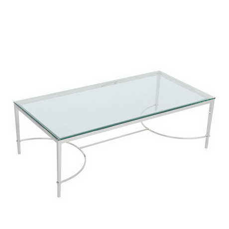 CT00264 event rental mirror glass table stainless steel modern