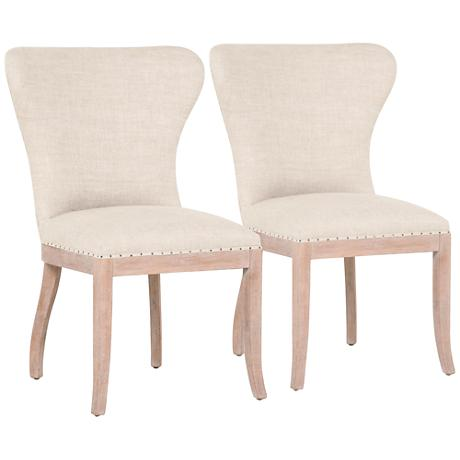 DC00007 Solid walnut wood polyester fabric dining chairs