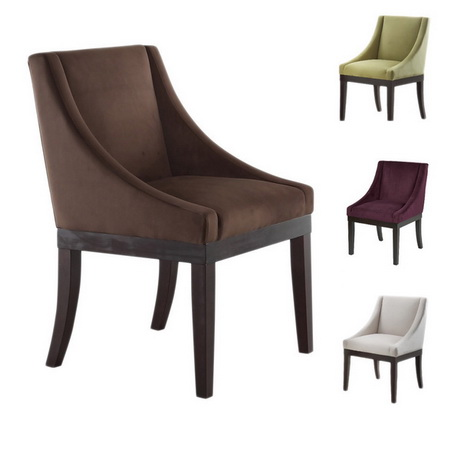 DC00041 High quality wood and polyester fabric dining chairs