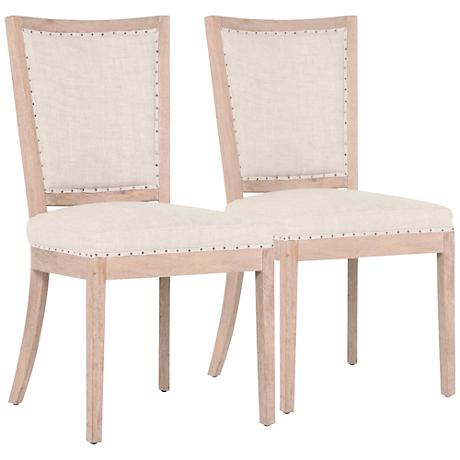 DC00043 High quality wood and polyester fabric dining chairs