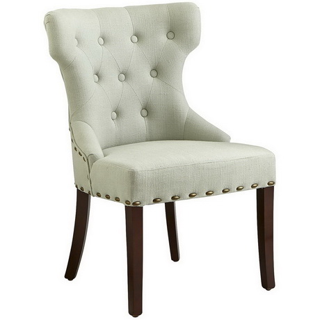 DC00129 High quality wood and polyester fabric dining chairs