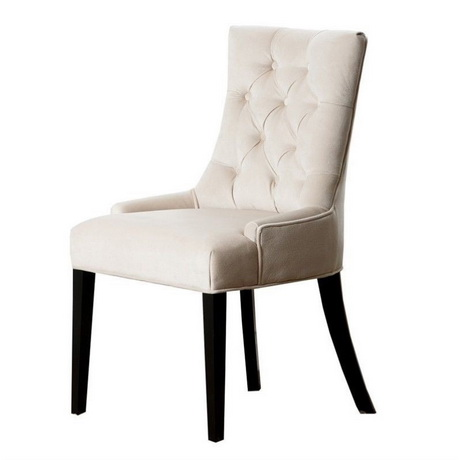 DC00130 High quality wood and polyester fabric dining chairs