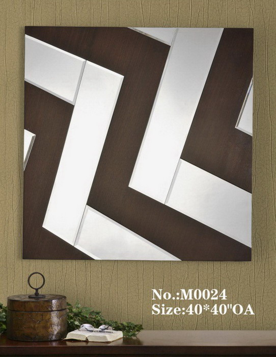 80001 Modern wall mirrors with full glass for hotel decorations