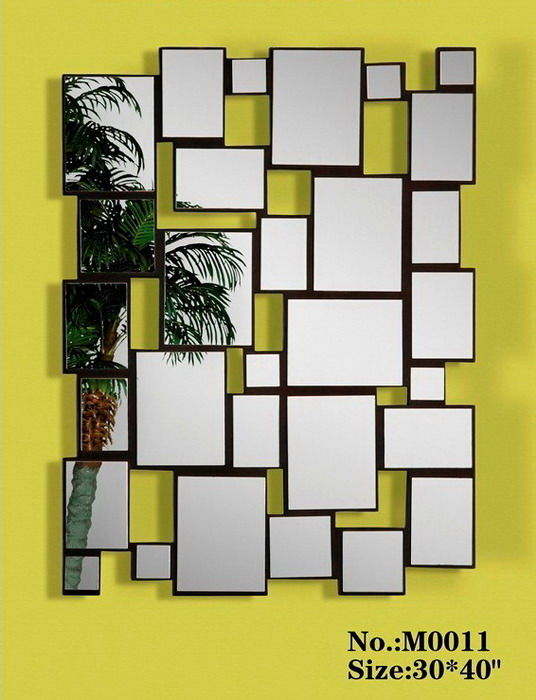 80004 Modern wall mirrors with full glass for hotel decorations