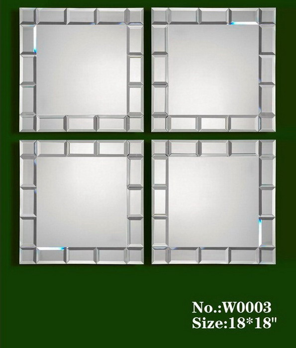 80005 Modern wall mirrors with full glass for hotel decorations