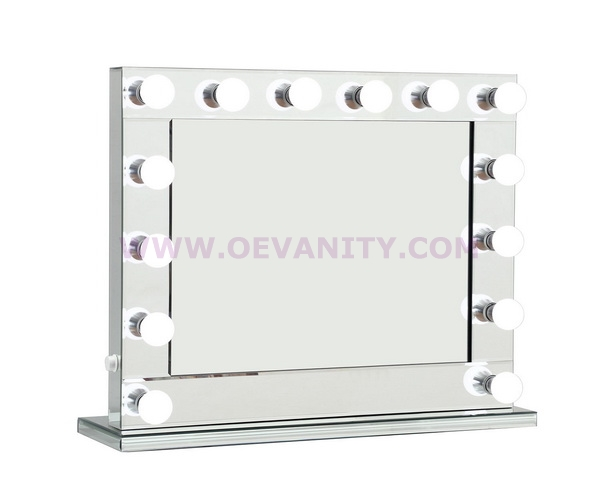 640023 Diamond XL Mirror Finish Hollywood Makeup Mirror Dimmable