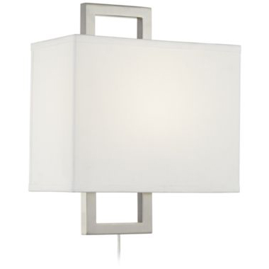 6630034 brushed nickel wall sconce
