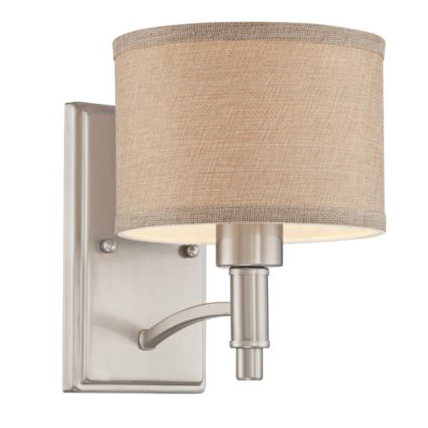 6630035 brushed nickel wall sconce