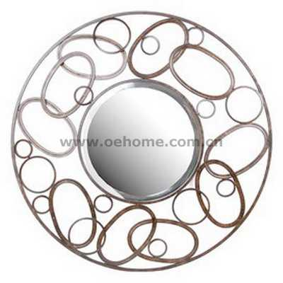 8375 Decorative modern hanging metal wall mirror