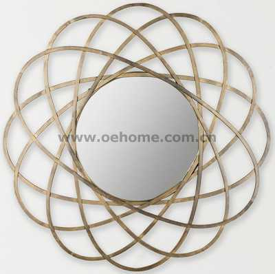 8484 Metal decorative wall mirrors for Hosipitality