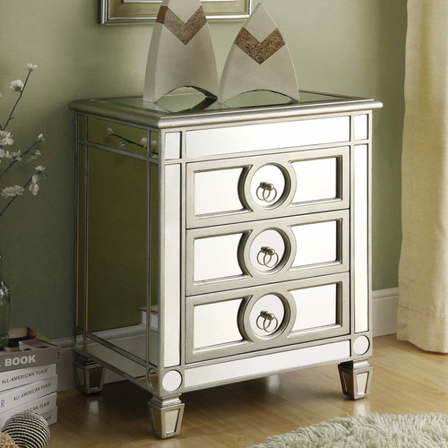 610001  Modern mirrored drawer cabinets chest