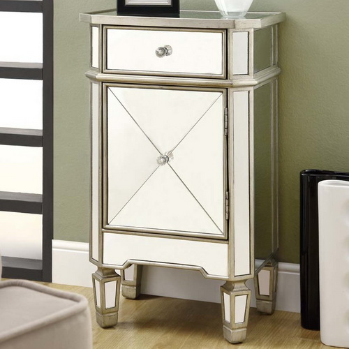 610002 Modern mirrored drawer cabinets chest