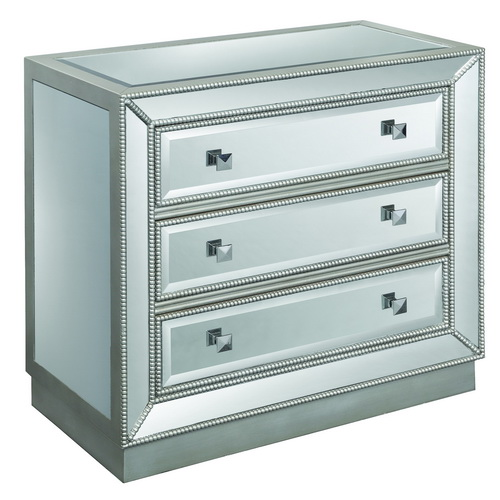 610005 Modern mirrored drawer cabinets chest