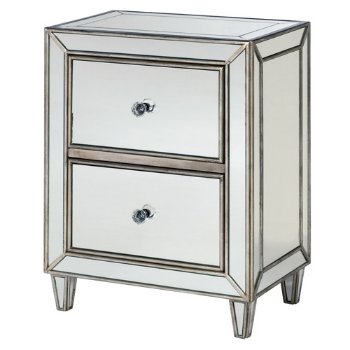 610006 Modern mirrored drawer cabinets chest