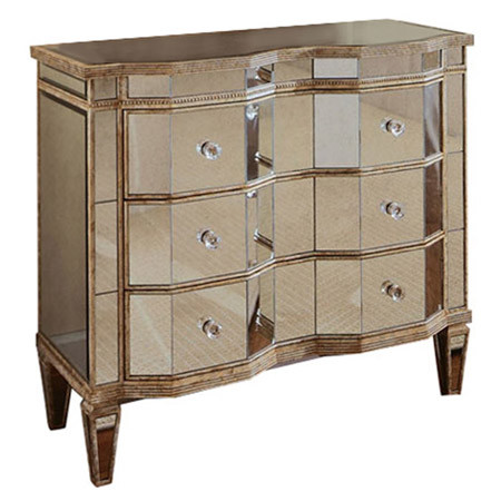 610007 Modern mirrored drawer cabinets chest