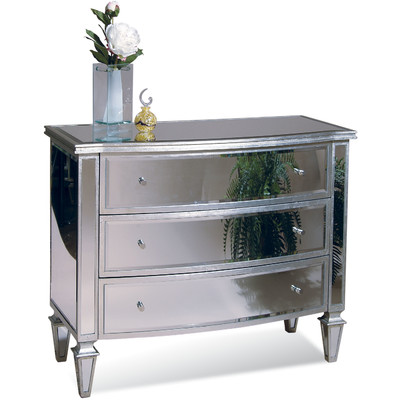 610008 Modern mirrored drawer cabinets chest