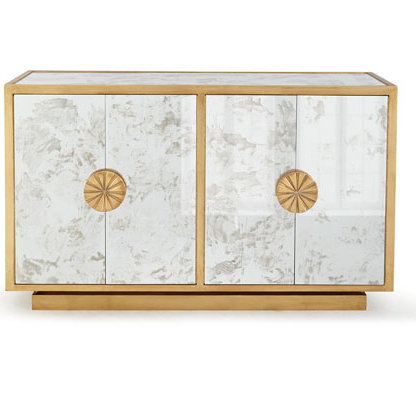 610019 Modern mirrored drawer cabinets chest