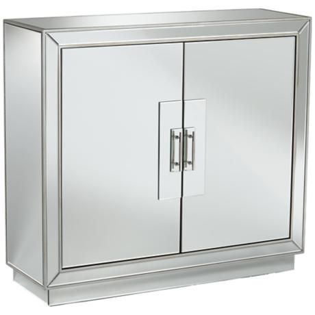 610339 vintage industrial mirrored cabinet