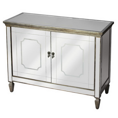 610341 vintage industrial mirrored cabinet