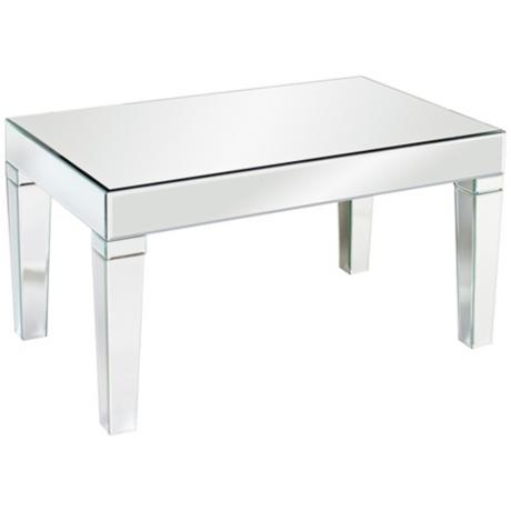 620001 Modern mirrored coffee table