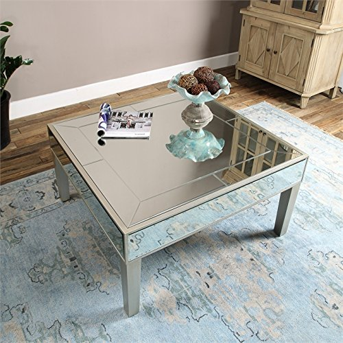 620007 Modern mirrored coffee table
