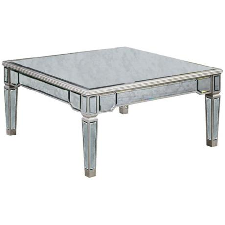 620010 Modern mirrored coffee table