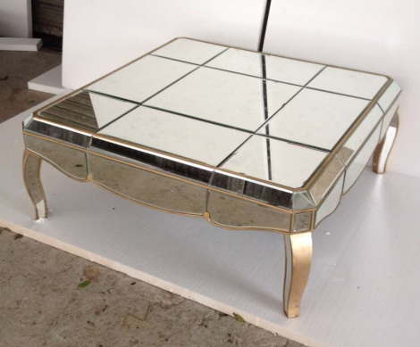 620059 Modern mirrored coffee table