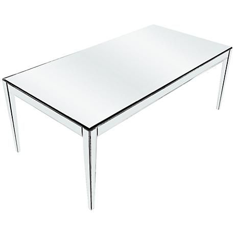 620076 Modern mirrored coffee table