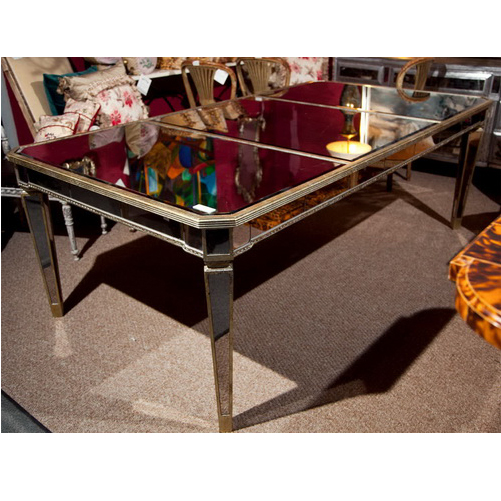 620091 Modern mirrored coffee table