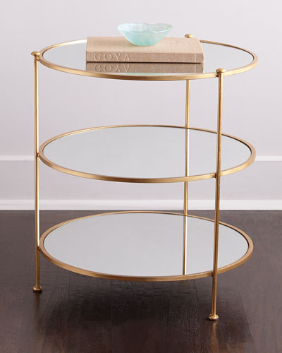 620092 Modern mirrored coffee table