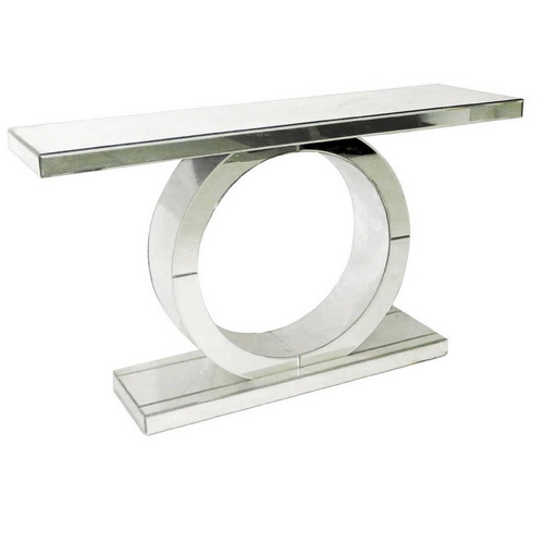 630002 Modern mirrored console table