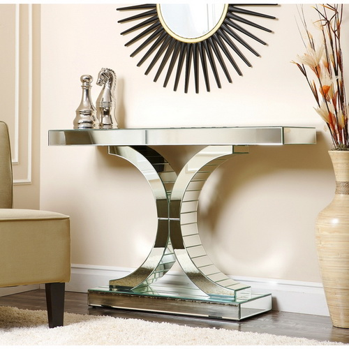 630003 Modern mirrored console table