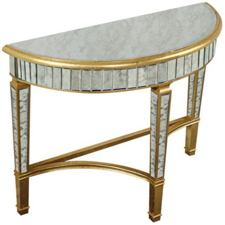 630022 baroque console mirrored table