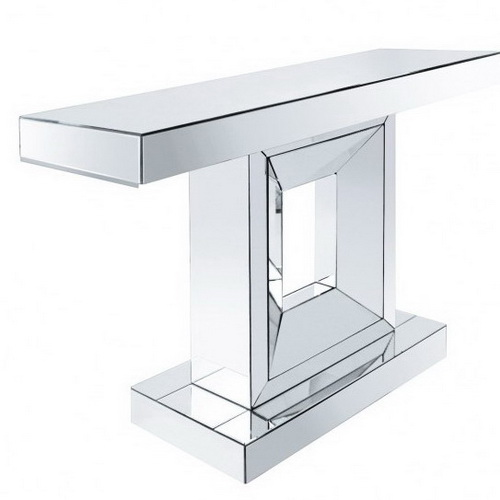 630115 modern mirrored console table