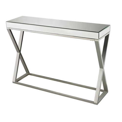 630119 modern mirrored console table