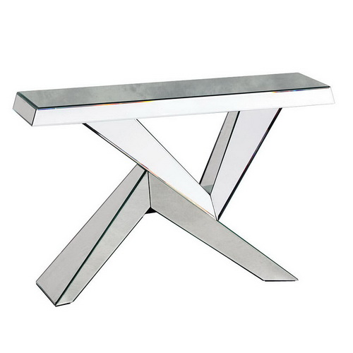 630122 modern mirrored console table
