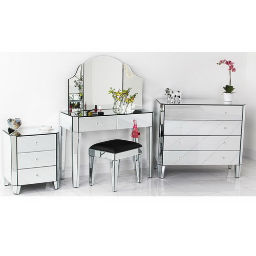 630211 luxury mirrored console table