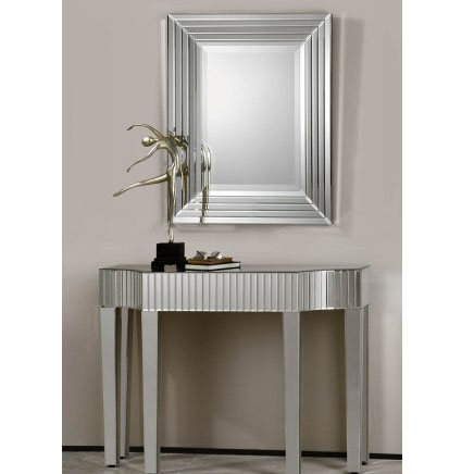 630251 antique mirrored console table