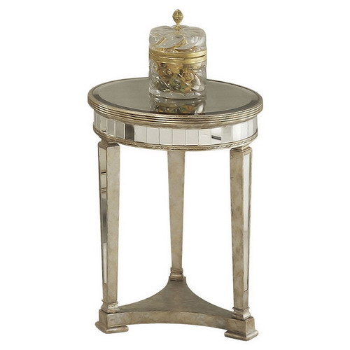 650004 Modern mirrored end table