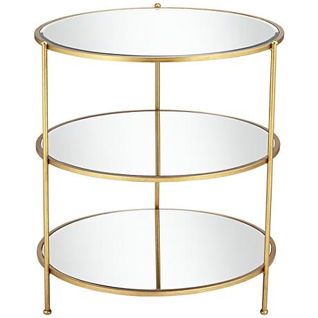 650008 Modern mirrored end table
