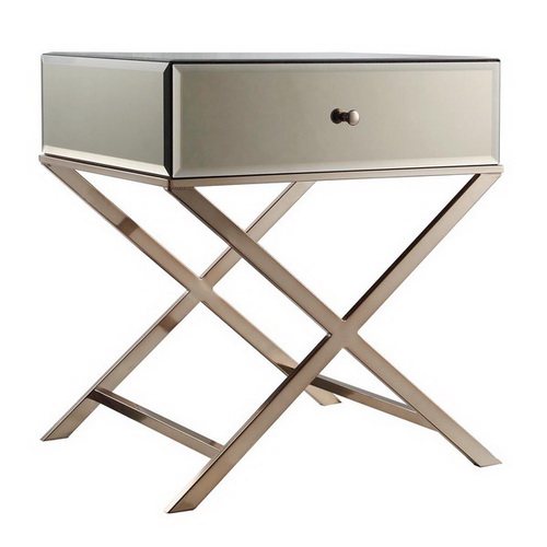 650053 Bed mirrored end table