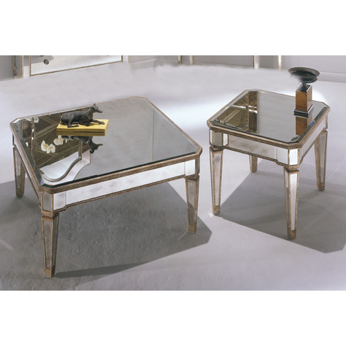 650055 Bed mirrored end table