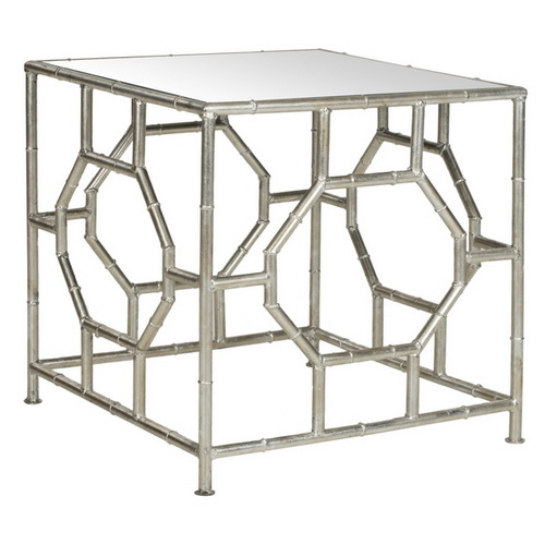 650072 Bed mirrored end table