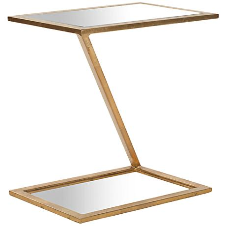 650078 Bed mirrored end table