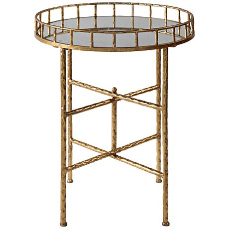 650087 Bed mirrored end table