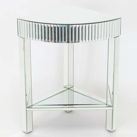 650174 Cherry wood mirrored end tables